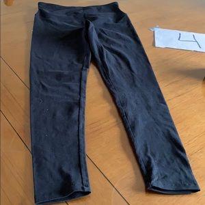 High rise yummie black pant
